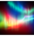 Northern lights background vector image vector image
