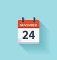November 24 flat daily calendar icon vector image