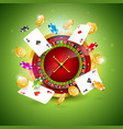 on a casino theme with vector image
