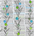 openwork vertical plants on a background of vector image vector image