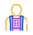 orthopedic belt for spine back support icon vector image