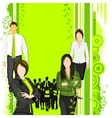 People supporting Eco friendly concept vector image vector image