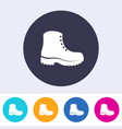 protective footwear must be worn icon vector image