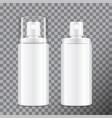 realistic cosmetic spray bottle dispenser for vector image vector image