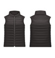 realistic or 3d black vest jacket with zap vector image vector image