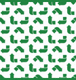 recycle green symbol pattern seamless flat vector image vector image