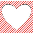 red and white seamless pattern with heart eps10 vector image vector image