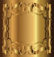 Royal Vintage Frame Gold Background vector image vector image