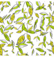 seamless pattern of leaves natural background vector image vector image