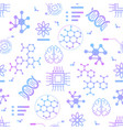 seamless pattern with thin line nano tech icons vector image vector image