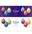 set easter egg sale horizontal banner easter vector image vector image