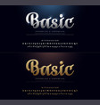 set elegant gold and silver colored metal vector image vector image