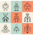 Set of nine with cartoon vector image vector image