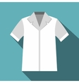 Shirt polo icon flat style vector image vector image