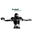 silhouette of a football player rugby american