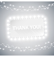 Simple Thank You Card with Christmas Lights vector image vector image
