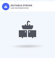 sink icon filled flat sign solid vector image vector image