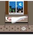 Sleeping man vector image