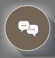 speech bubbles sign white icon on brown vector image vector image