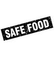 square grunge black safe food stamp vector image vector image