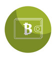 sticker bitcoin symbon in the wallet to save money vector image vector image