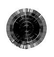 stroke spiral stamp 05 vector image vector image