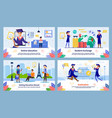 student education opportunities banners set vector image vector image