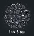 tea time circle bb vector image vector image