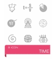 Time icon set vector image vector image