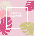 tropical paradise paper labels on the background vector image vector image