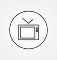 Tv outline symbol dark on white background logo