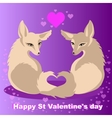 Two foxes in love for St Valentines day vector image
