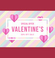 valentines day sale special offer background vector image vector image
