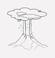 volcano icon line element of vector image