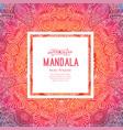watercolor mandala square background decor vector image vector image
