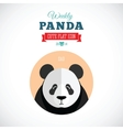 Weekly Panda Cute Flat Animal Icon - Sad vector image vector image