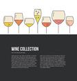 Wine Flyer vector image