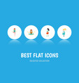 flat icon pregnancy set of mother meditation vector image