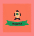 flat shading style icon rocket science vector image