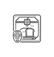 3d printer making bread hand drawn outline doodle vector image vector image