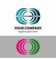 Abstract communication logo sign vector image vector image