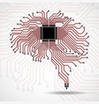 abstract technological brain cpu vector image vector image