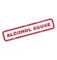 Alcohol Abuse Text Rubber Stamp vector image vector image