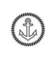 anchor icon graphic design template vector image vector image