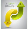 Arrow up and down vector image vector image