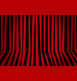 background striped room in red and black vector image