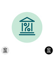 Bank percent icon vector image