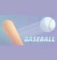 baseball bat and ball concept banner cartoon style vector image vector image