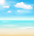 Beach Seaside Sea Shore Clouds Summer Holiday vector image