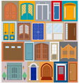 Big set City generator House constructor Doors vector image vector image